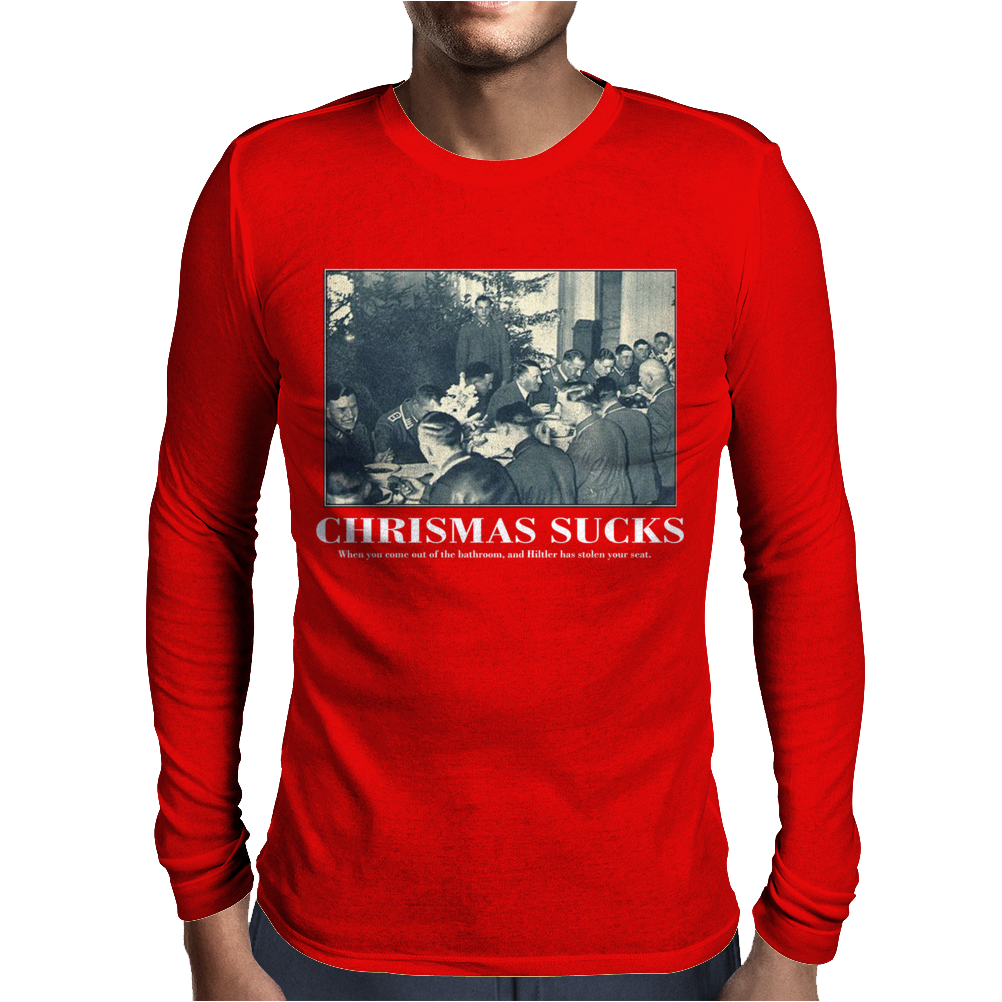 Christmas Sucks Funny Mens Long Sleeve T-Shirt