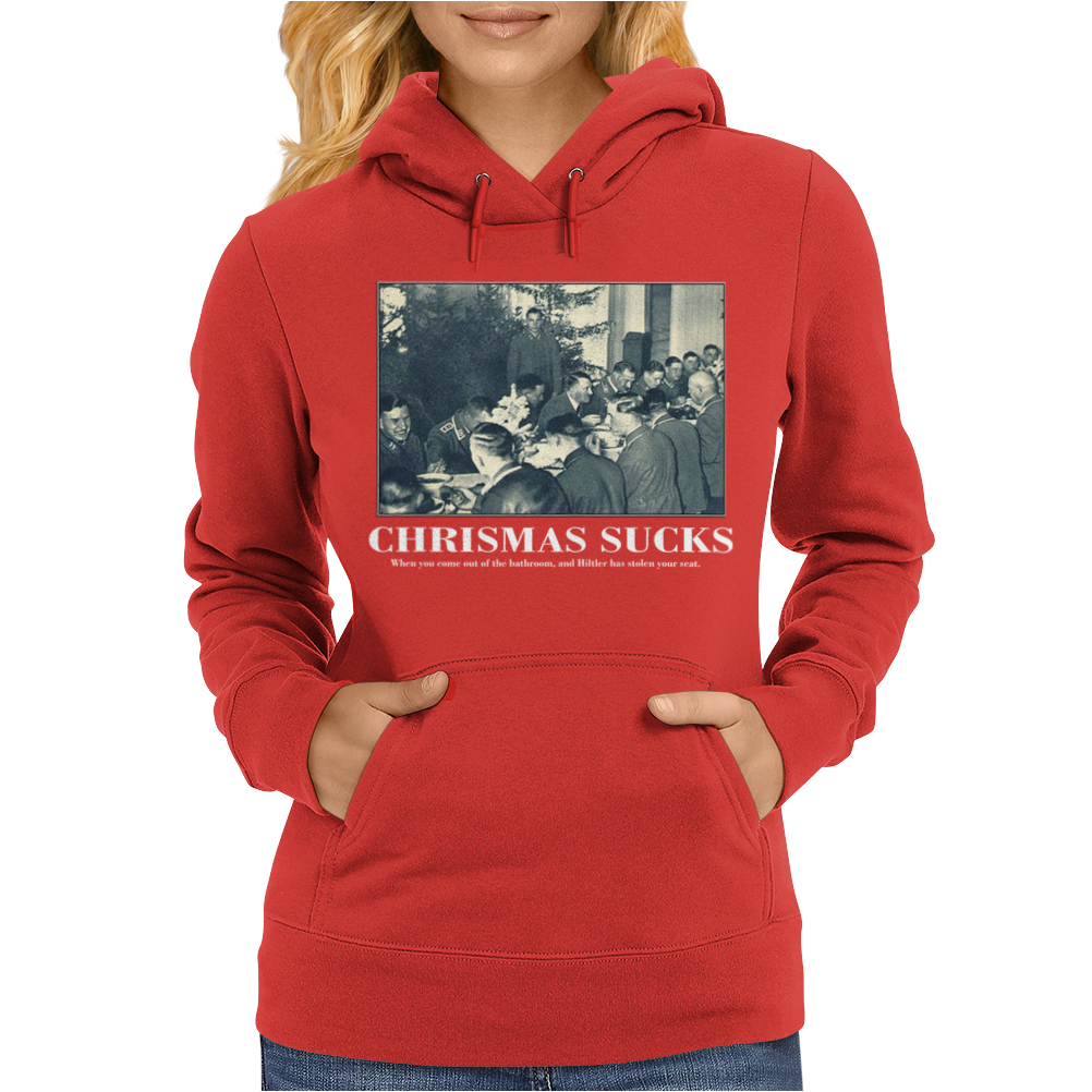 Christmas Sucks Funny Womens Hoodie
