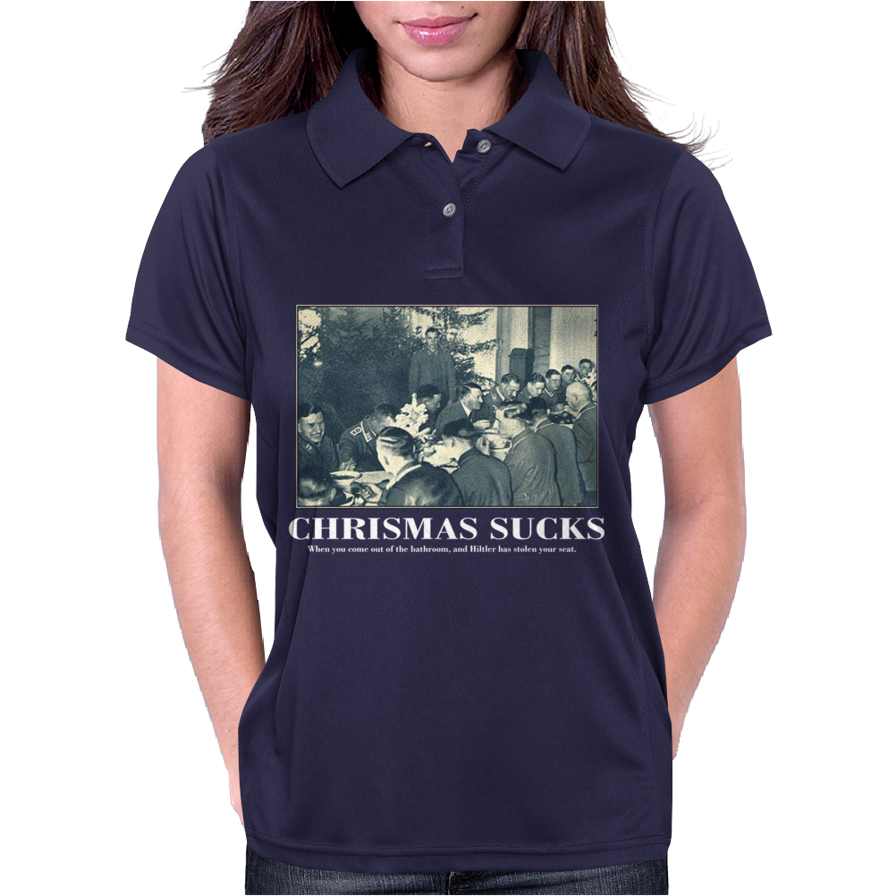 Christmas Sucks Funny Womens Polo