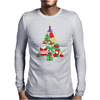 Christmas Tree Made of Bells Stocking Santa Mens Long Sleeve T-Shirt