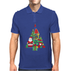 Christmas Tree Made of Bells Stocking Santa Mens Polo
