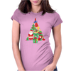 Christmas Tree Made of Bells Stocking Santa Womens Fitted T-Shirt