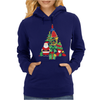 Christmas Tree Made of Bells Stocking Santa Womens Hoodie