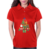 Christmas Tree Made of Bells Stocking Santa Womens Polo