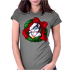 Christmas Wreath Bluebie Bust by BlueKazenate Womens Fitted T-Shirt