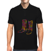 chromatic cowboy boots, colorful cowboy boots Mens Polo
