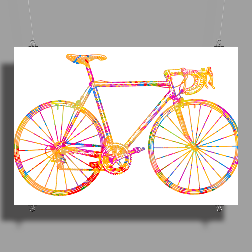 Chromatic racing bicycle, road racer, merck Poster Print (Landscape)