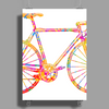 Chromatic racing bicycle, road racer, merck Poster Print (Portrait)