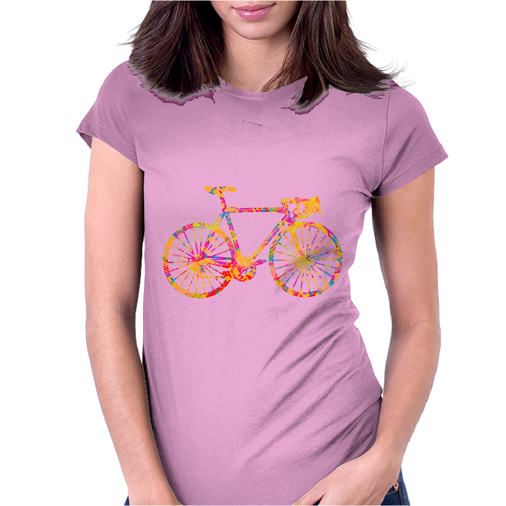 Chromatic racing bicycle, road racer, merck Womens Fitted T-Shirt