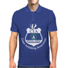 CIA Badge Cider Imbibing Anarchist With Badge Mens Polo