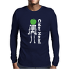Ciderhead Cider Drinking Skeleton and Apple Mens Long Sleeve T-Shirt