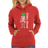 Ciderhead Cider Drinking Skeleton and Apple Womens Hoodie