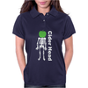 Ciderhead Cider Drinking Skeleton and Apple Womens Polo