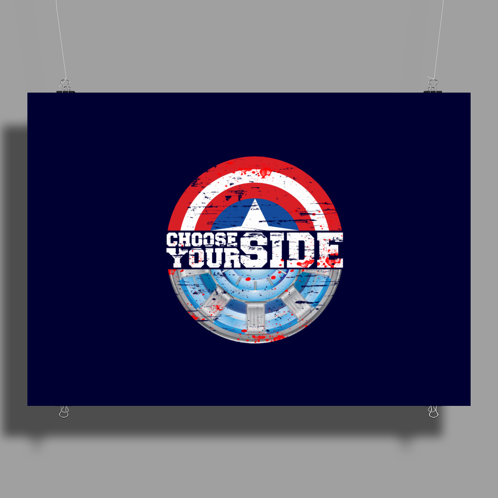 Civil War - Choose Your Side - Faded Poster Print (Landscape)