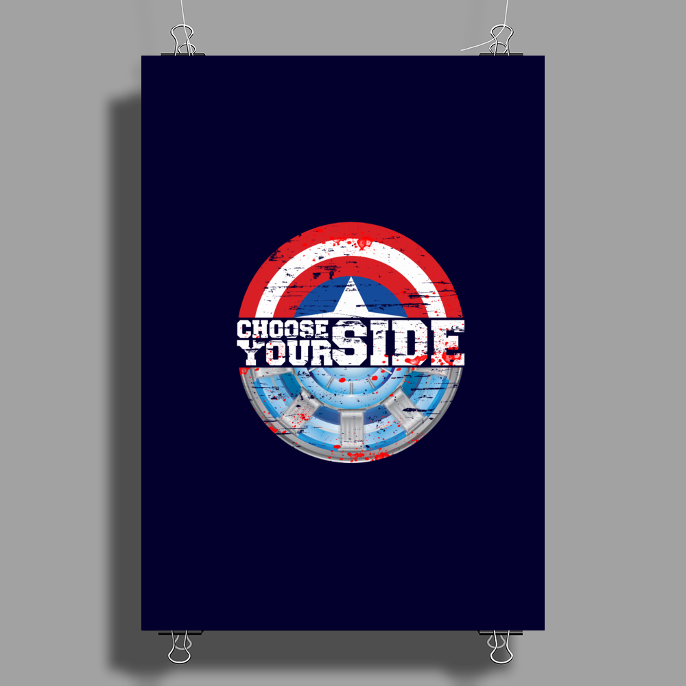 Civil War - Choose Your Side - Faded Poster Print (Portrait)