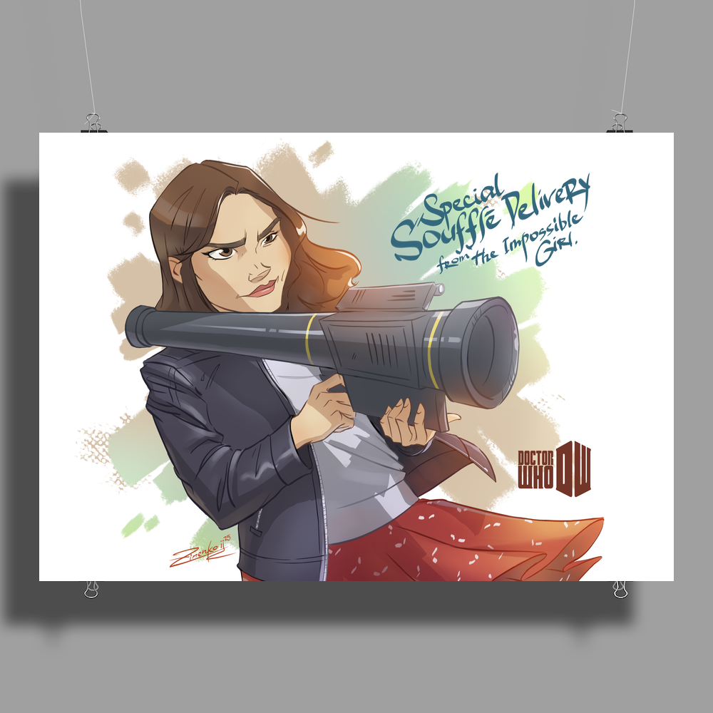 Clara Oswald from DoctorWho (9th season) Poster Print (Landscape)