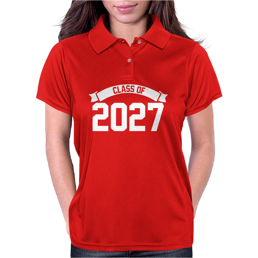 Class of 2027 Novelty High School Elementary Womens Polo