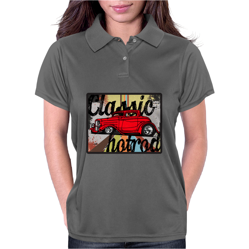 Classic Car Collection - Hot Rod Womens Polo