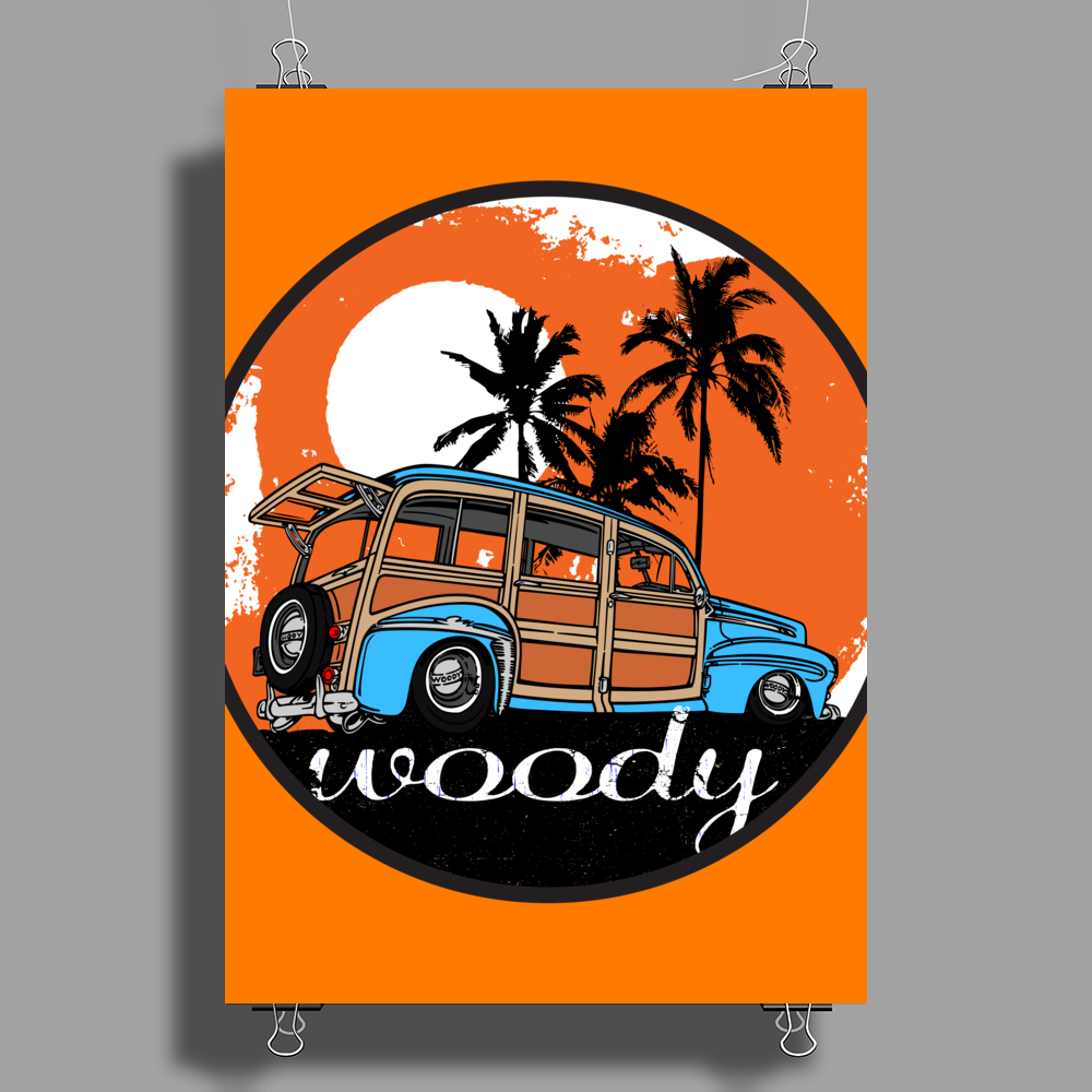 Classic Car collection - Woody Poster Print (Portrait)