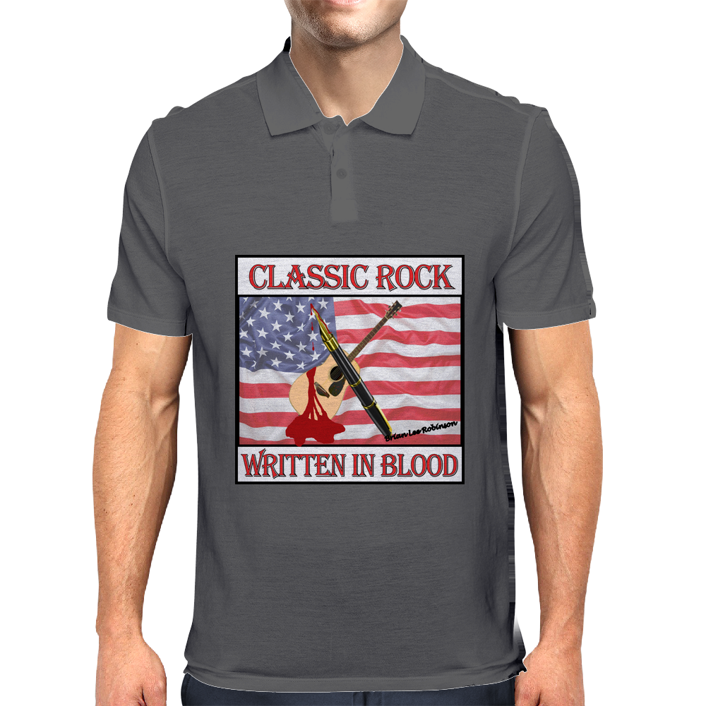 Classic Rock Written In Blood Mens Polo