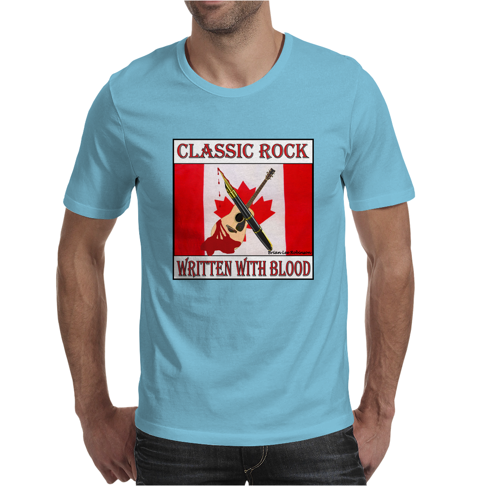 Classic Rock - Written In Blood Mens T-Shirt