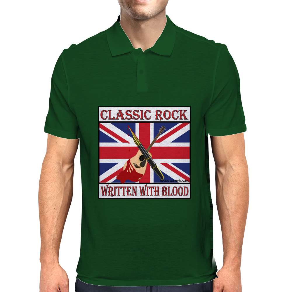 Classic Rock - Written With Blood Mens Polo