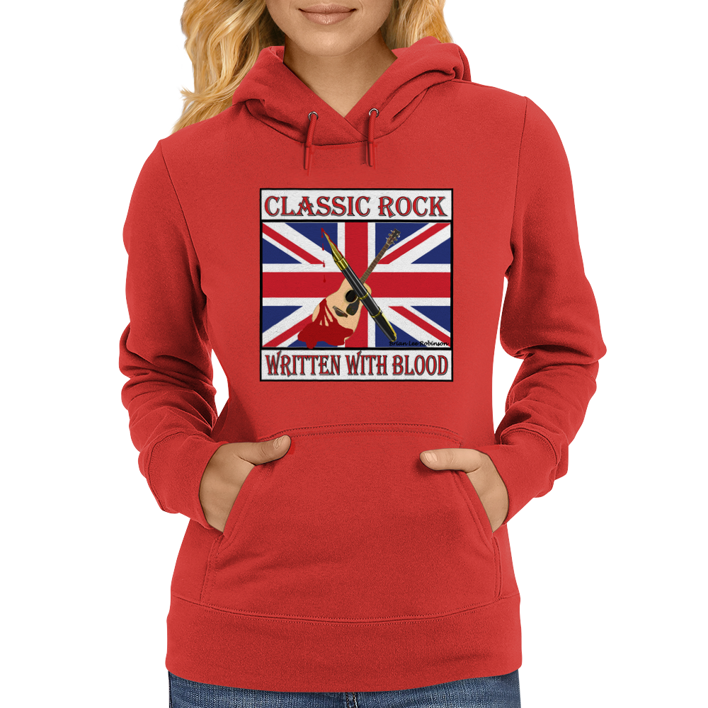 Classic Rock - Written With Blood Womens Hoodie