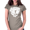 Clicker Skull Womens Fitted T-Shirt