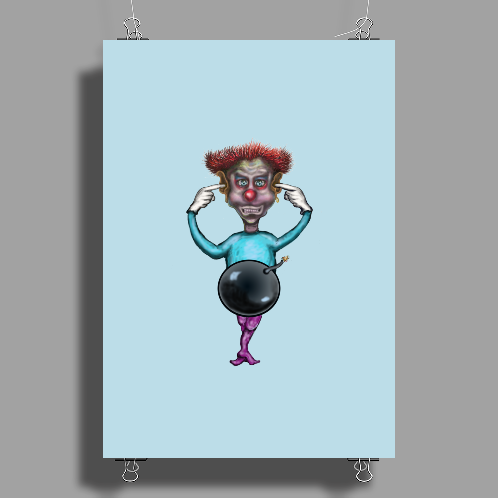 clown bomb Poster Print (Portrait)