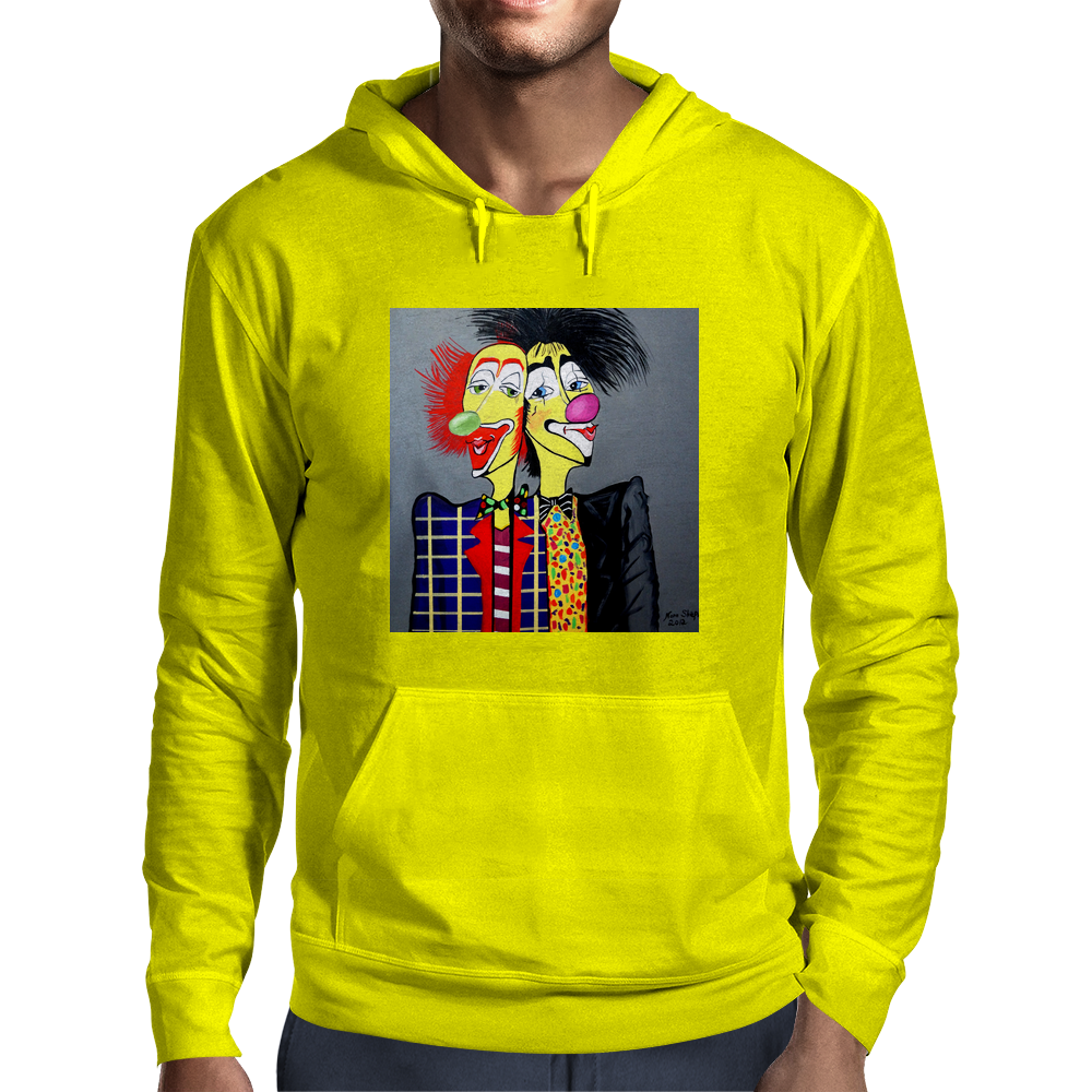 CLOWN    TWO HEADS ARE BETTER THEN ONE Mens Hoodie