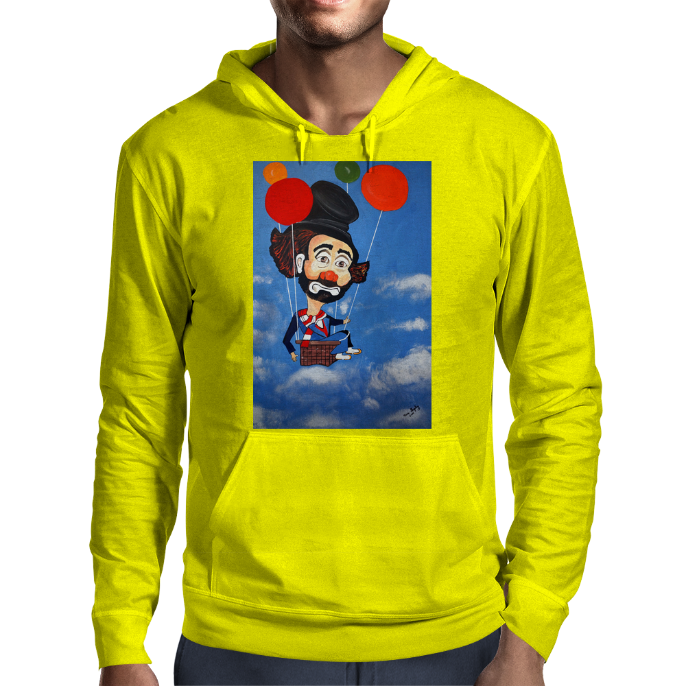 CLOWN   UP UP AND AWAY Mens Hoodie