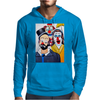 CLOWNS ABSTRACT   CLOWNS IN SHOCK Mens Hoodie