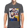 CLOWNS ABSTRACT   CLOWNS IN SHOCK Mens Polo