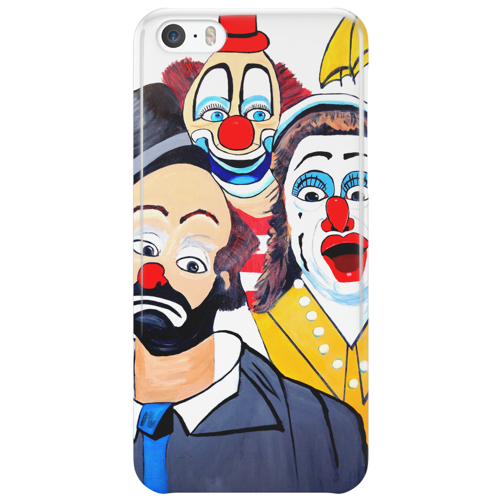CLOWNS ABSTRACT   CLOWNS IN SHOCK Phone Case