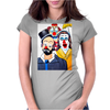 CLOWNS ABSTRACT   CLOWNS IN SHOCK Womens Fitted T-Shirt