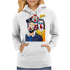 CLOWNS ABSTRACT   CLOWNS IN SHOCK Womens Hoodie