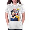 CLOWNS ABSTRACT   CLOWNS IN SHOCK Womens Polo