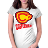 Coffee Man Womens Fitted T-Shirt