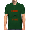 COFFEE WILL GIVE YOU WINGS Mens Polo