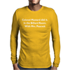 Colonel Mustard Clue Billiard Funny Mens Long Sleeve T-Shirt