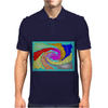 Colorful Abstract Art Mens Polo