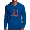 colorful bouquet cowboy boots Mens Hoodie