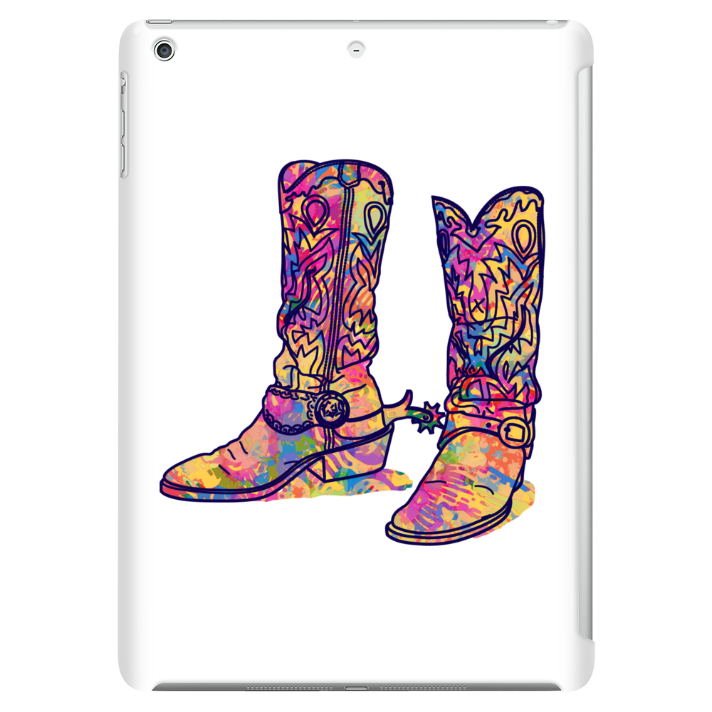 colorful bouquet cowboy boots Tablet