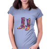 colorful bouquet cowboy boots Womens Fitted T-Shirt