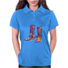 colorful bouquet cowboy boots Womens Polo