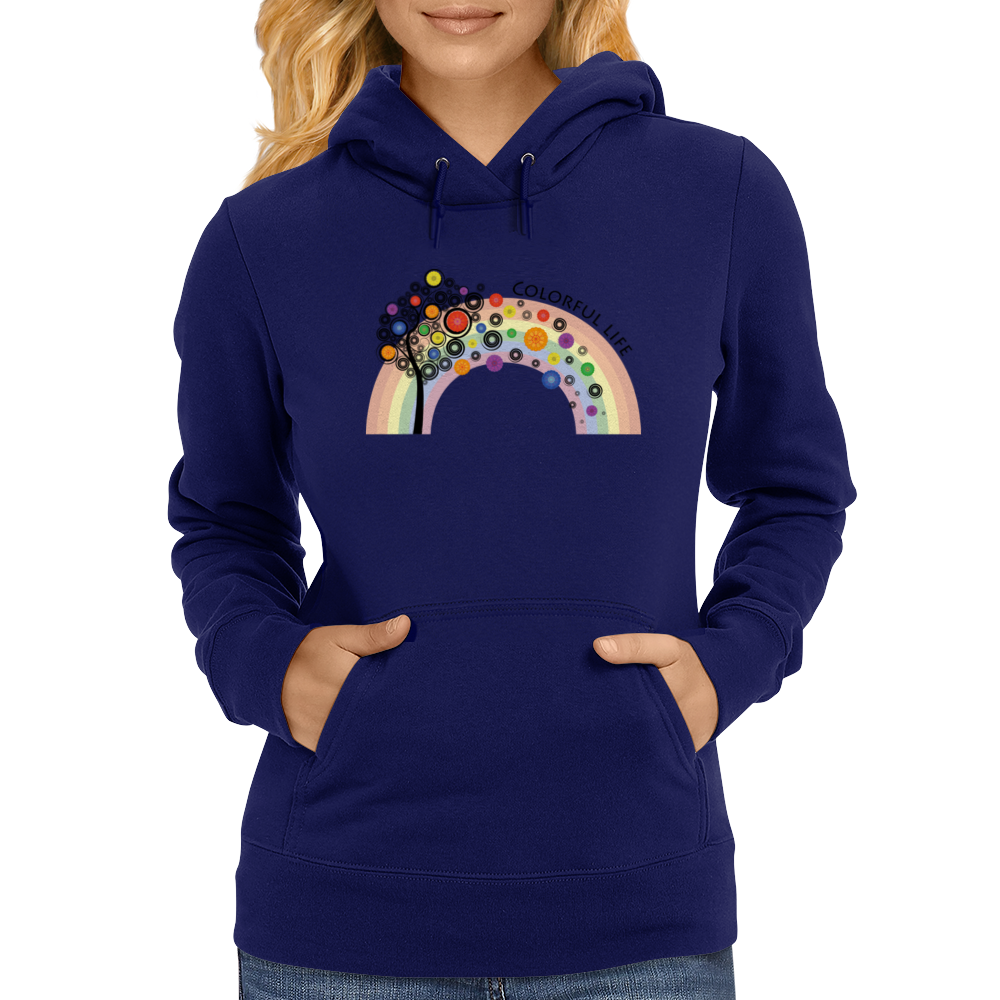 Colorful life Womens Hoodie