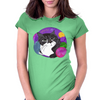 Colorful Mojo Cat Womens Fitted T-Shirt