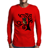 Colorful Owl in Tree Tribal Art Mens Long Sleeve T-Shirt