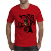 Colorful Owl in Tree Tribal Art Mens T-Shirt