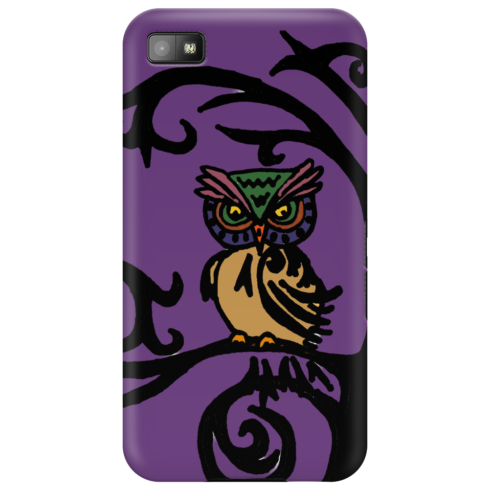 Colorful Owl in Tree Tribal Art Phone Case